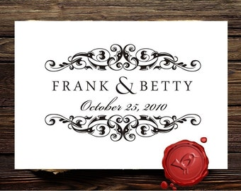 Save The  Date Custom rubber stamp - wedding monogram - custom wedding stamp  - Personalized gift - HS 1285