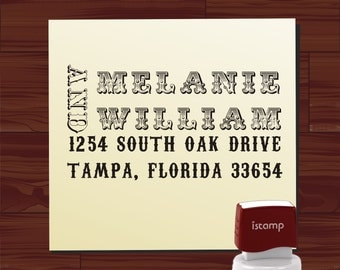 Affordable Useful Gift Custom Personalized vintage style SELF INKING Return Address Rubber Stamp - HS 1299B cute wedding or christmas gift