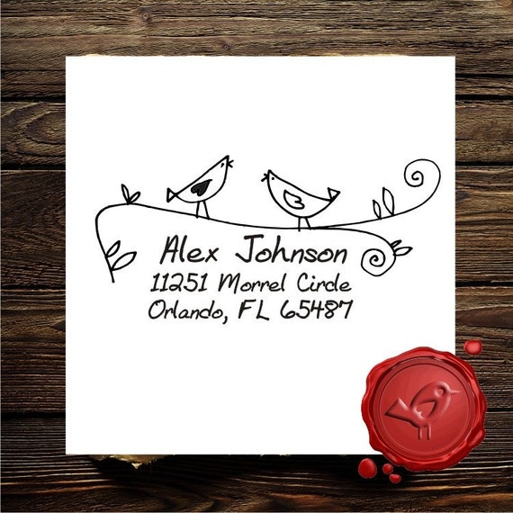 Personalized  art  custom text rubber stamp cute hostess gift - style 1152