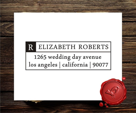 Personalized address custom text rubber stamp HOSTESS GIFT - style 1274