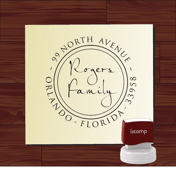 Custom SELF INKING stamp - Return Address Rubber Stamp - style 9013C- Personalized wedding or christmas gift