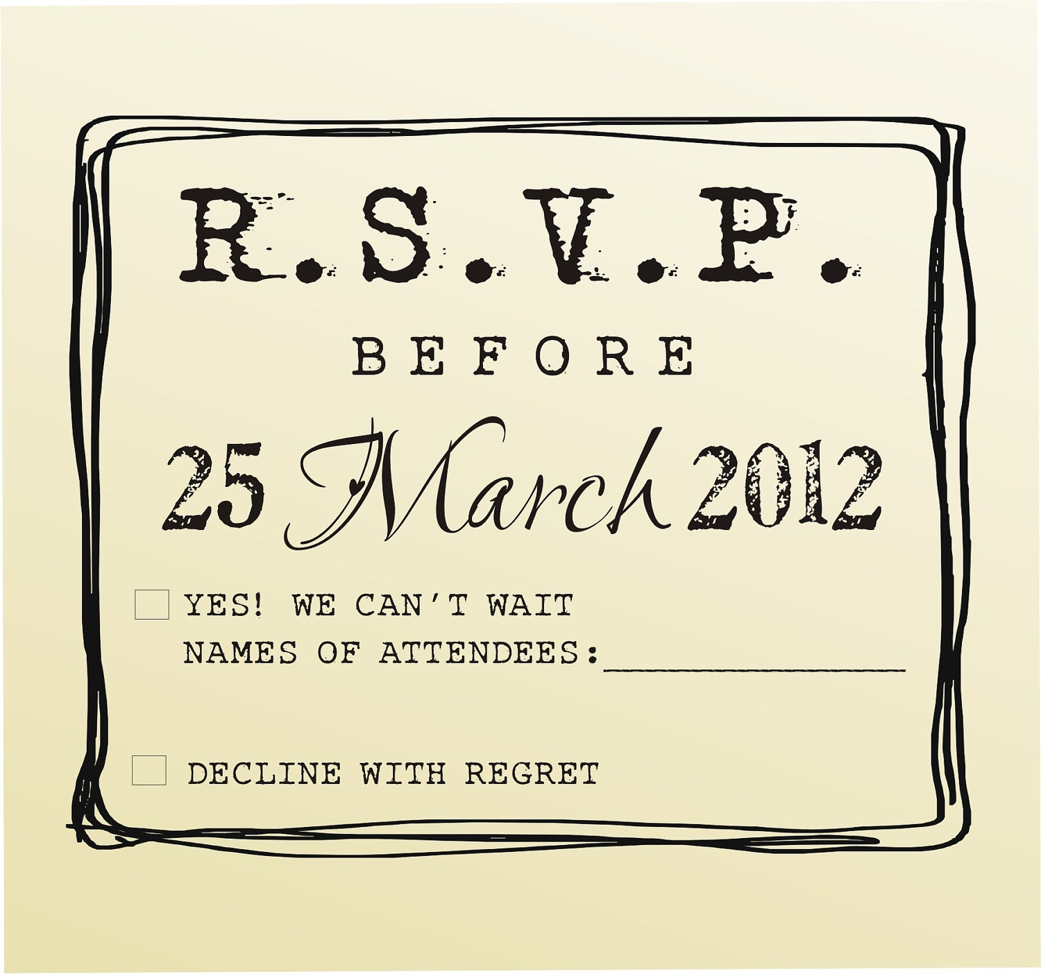 Rsvp rubber stamp for custom diy wedding invitations style for Wedding dress rubber stamp