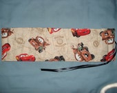 Disney Cars Crayon Roll in tan background, Makes a Great Gift and Great for Travel
