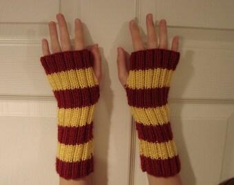 Made to Order Harry Potter Gryffindor Fingerless Gloves