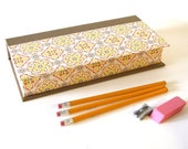 Vintage Wallpaper Pencil Box