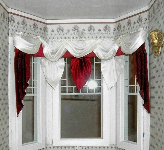Bay Window Valances: Items Similar To Dollhouse Miniature 1:12 Scale Wide Bay
