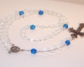 Personalized Birthstone Rosary  - Any Month/Color with Round or Square Alphabet Beads - SHIPS WITHIN 24 HRS