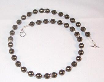 Swarovski Crystal Jewelry - Swarovski Pearls - Dark Green
