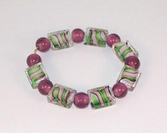 Custom-made Handpainted Glass Bracelet
