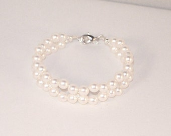 Swarovski Pearl Jewelry - Bridal Bracelet - Bride, Bridesmaid, Maid of Honor - Made to Order in Any Color