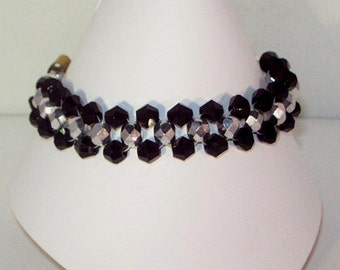 Swarovski Crystal Jewelry - Woven Bracelet - Any Color