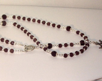 SALE - Swarovski Crystal & Silver Rosary - Jewish, Catholic or Anglican, Made to Order - Any Colors