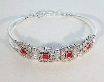 Swarovski Ruby Crystal Bracelet - Birthstone, Bridal - Shown in Siam