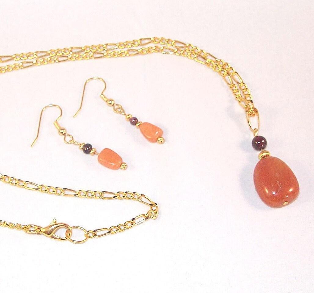 gemstone jewelry aventurine garnet necklace and