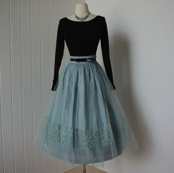 vintage 1950s dress ...pretty irene karol original 2pc tulle