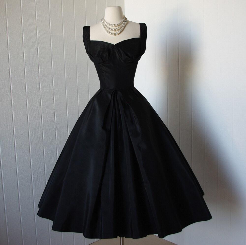 vintage 1950s dress ...designer couture SUZY PERETTE dior