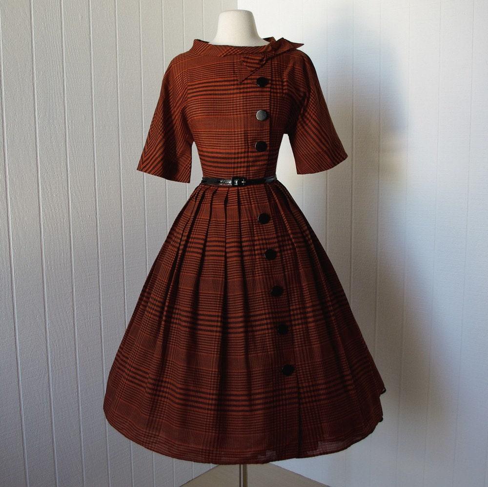 vintage 1950s dress fabulous tranell dallas asymmetrical
