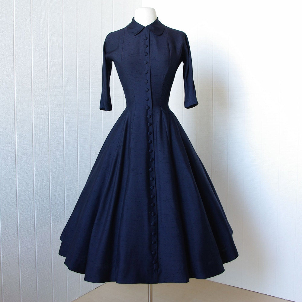 Vintage 1950's Dress ...classic Dior Inspired GIGI YOUNG