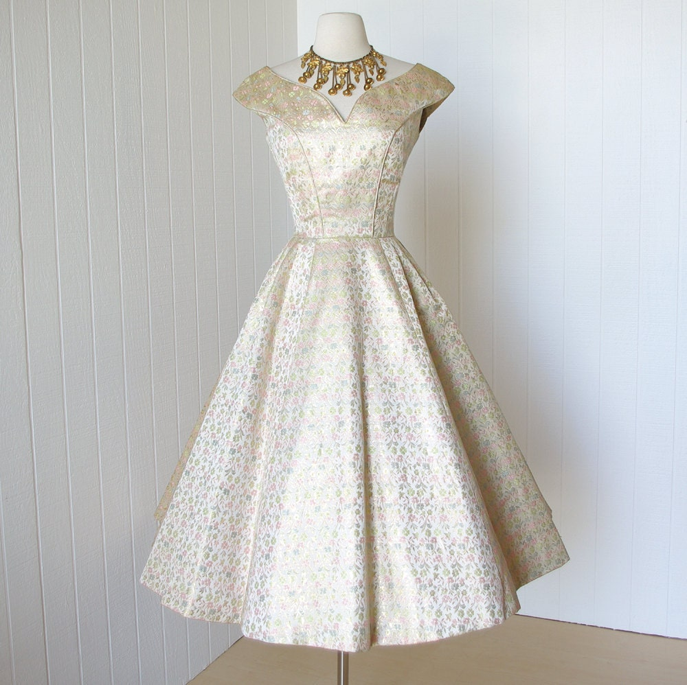 vintage 1950's dress ...never worn dior inspired SUZY