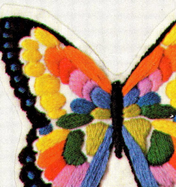 Vintage 70's Embroidered Felt Butterflies Hallmark Columbia Minerva Butterfly Bookmarks, Ornaments, Patches Kit