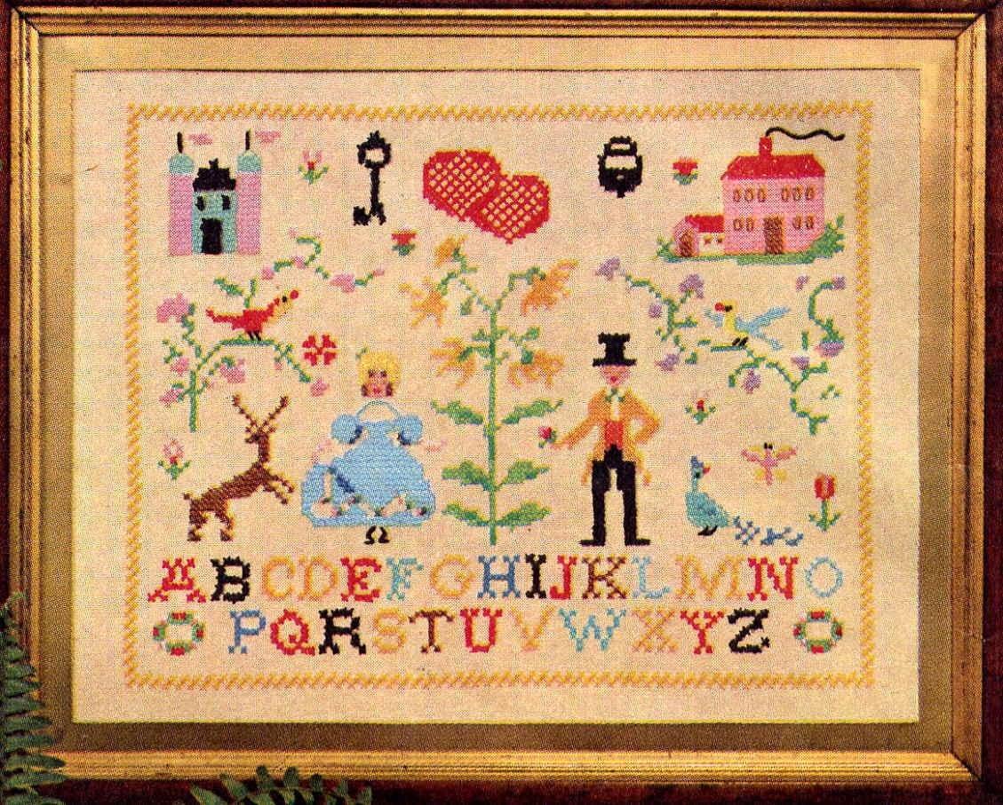 Vintage Embroidery Sampler Transfer Pattern Simplicity 4730