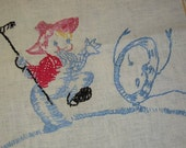 Vintage Embroidered Towel Farmer Chases Anthro Dish