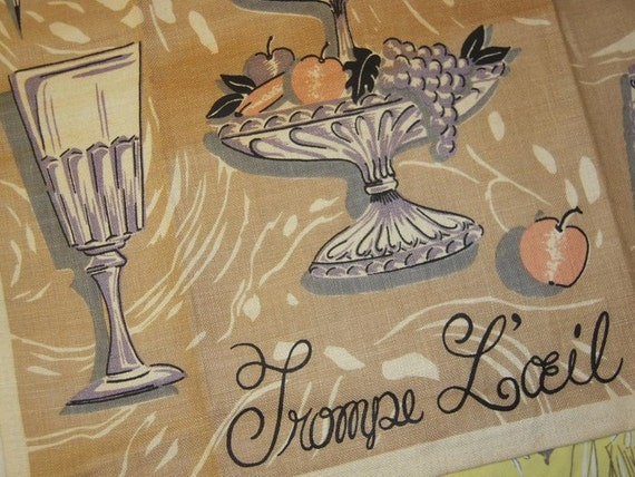 Vintage Trompe L'O'eil Towel From Soup to Nutcrackers
