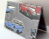 Debit Card Holder Travel Wallet Credit Card and Identification Mini Wallet Old Guys Rule Classic Cars