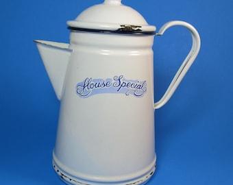 Enamel coffe pot vintage house special