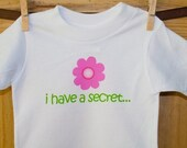 Big sister shirt- FLOWER I have a secret big sister announcement t-shirt