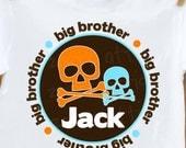 big brother shirt- skull cross bones big brother t shirt, little brother t-shirt