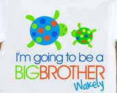Big Brother shirt- Turtles I'm going to be a big brother -what an adorable pregnancy announcement