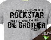 big brother shirt personalized rockstar big brother (or big brother to be) tshirt