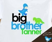 Big brother traditional dinosaur Tshirt