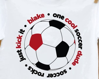 personalized soccer shirt-soccer boy - personalized and perfect gift for the soccer kid in the family