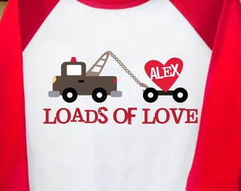 Loads of Love Valentine's Day raglan T-shirt-adorable for the days festivities