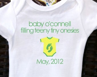 pregnancy announcement bodysuit  -personalized for your family and due date
