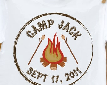 birthday boy shirt camp out theme birthday party shirt or just for the camping fan