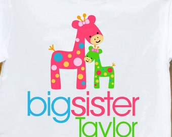 big sister shirt funky giraffe makes a great big sister to be shirt and gift