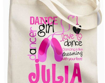 personalized Dance bag perfect for the dancer and all of her dancing things