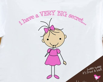 big sister shirt - i have a secret - I'm going to be a big sister pregnancy announcement tshirt