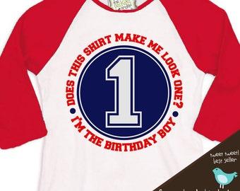 Birthday Boy shirt - perfect for the baseball, sports themed birthday party  baseball raglan shirt