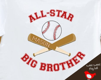 big brother shirt - baseball all-star big brother on plain tshirt
