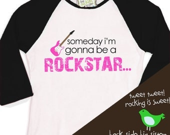 rockstar big sister shirt - personalized rockstar big sister pregnancy announcement raglan sleeve tshirt