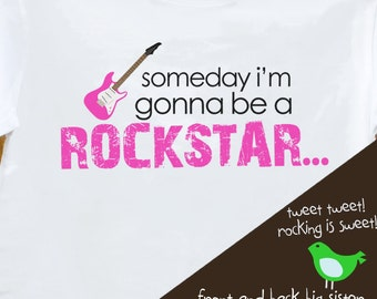 big sister rockstar front and back pregnancy announcement t shirt  for the big sister to be pink or white t shirt