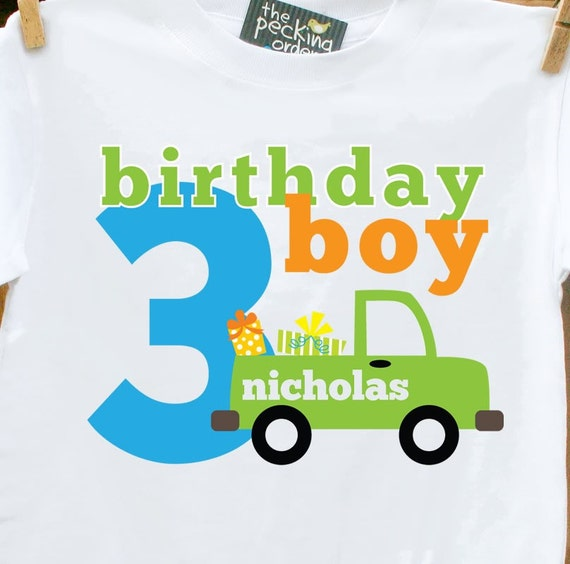 Birthday Boy Truck T-shirt- Perfect t-shirt for any age