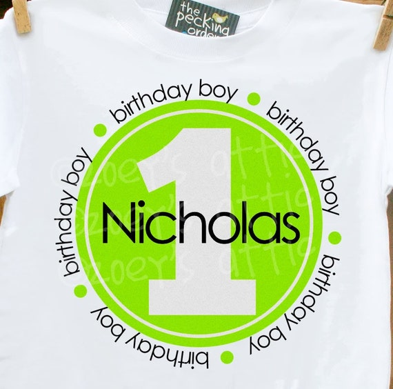 Birthday boy shirt - personalized tshirt with age in circle - perfect for birthday festivities