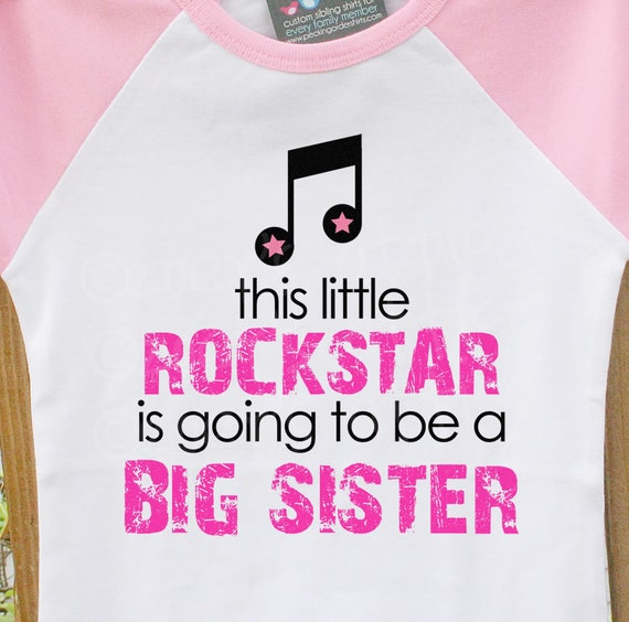 Big sister shirt-rockstar big sister to be announcement t-shirt