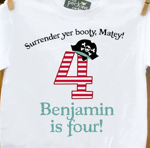 pirate birthday boy shirt-personalized birthday shirt pirate boy