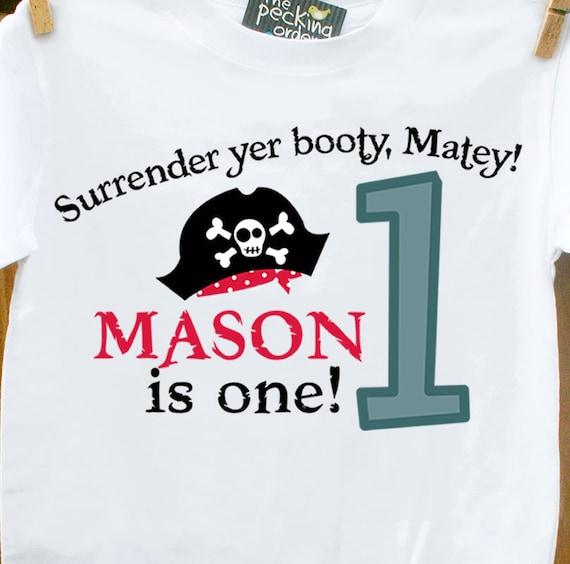 first 1st pirate birthday boy shirt-personalized birthday shirt pirate boy